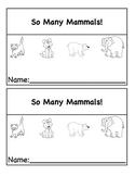 Non-Fiction Mammals Mini Book
