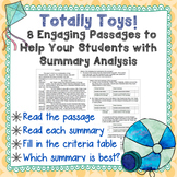 Non-Fiction Summary Analysis- Strategic Assessment/Test Prep