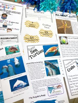 Nonfiction Reading Resources - Close Reading & Writing K-2 Ocean Animals Edition