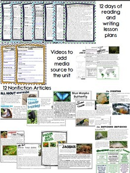 Nonfiction Reading- Common Core Close Reading & Writing K-2 Rainforest Edition
