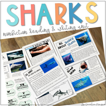 Nonfiction Reading- Common Core Close Reading & Writing K-2 Shark Edition