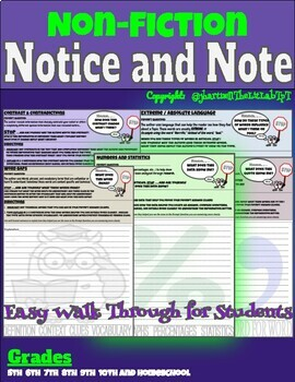 Non-Fiction Notice and Note Task Bundle