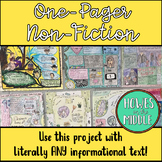 Non-Fiction One-Pager Assignment - Informational Reading a