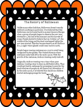 Non-Fiction Paired Passage Dia de los Muertos and Halloween Non-Prep Printable!