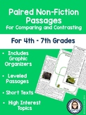 Non-Fiction Paired Passages for Comparing and Contrasting for 4th-7th Grades