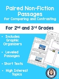 Non-Fiction Paired Passages for Comparing and Contrasting for 2nd-3rd Grade
