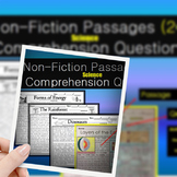 NonFiction Reading Passages (Science) W/ Comprehension Questions