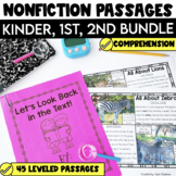 Non Fiction Passages Bundle: Kindergarten, 1st & 2nd Grade {Level C-M}