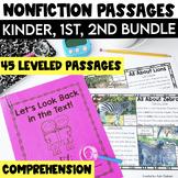 Non Fiction Passages Bundle: Kindergarten, 1st & 2nd Grade {Level C-M}