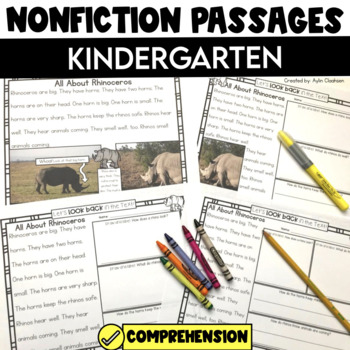 Non Fiction Passages: Kindergarten Edition {Level C-D}