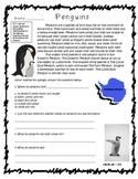 Non-Fiction Penguins Passage Reading Informational 3.1