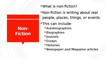 Non-Fiction Power-Point