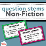 Non-Fiction Question Stems for Reading Comprehension