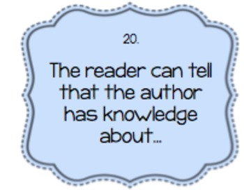 Non-Fiction Questions-ANY PIECE OF LITERATURE!-Laminate
