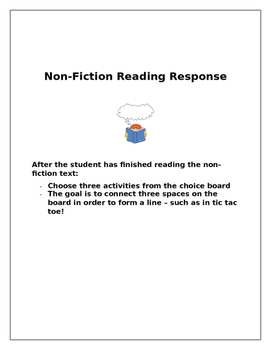 Non-Fiction Reader Response