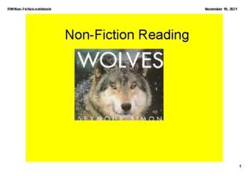 SMARTBOARD Non Fiction Reader's Workshop Unit