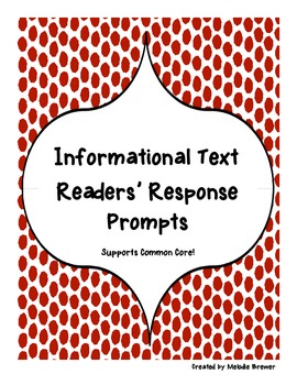 Non-Fiction Readers' Response Prompts (Application/Analysis)