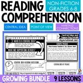 Non-Fiction Reading Comprehension Activities for Middle School ELA Bundle