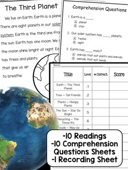 Earth Day NonFiction Reading Comprehension Passages