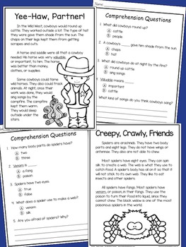 Non-Fiction Reading Comprehension Passages FOR BOYS - Grade 2