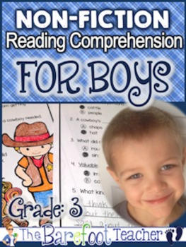 Non-Fiction Reading Comprehension Passages FOR BOYS - Grade 3