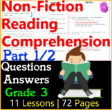 Non-Fiction Comprehension Passages & Questions | Part 1/2 | Grade 3