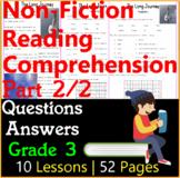 Non-Fiction Reading Passages & Questions   Part 2/2   Grade 3