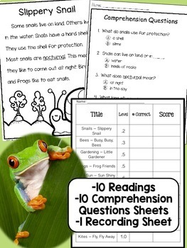 Spring Themed Non-Fiction Reading Comprehension Pack