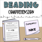 Non-Fiction Reading Comprehension: Why that Name?   Nike -
