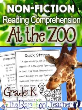 Zoo themed Non-Fiction Reading Comprehension Passages
