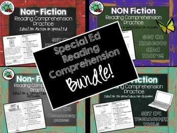 Non-Fiction BUNDLE  of Reading Comprehension for Special E