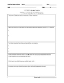 Non-Fiction Reading Group Response Sheet