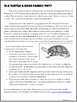 Non-Fiction Reading:  Is a Turtle a Good Family Pet?  a CCSS aligned activity