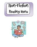 Non-Fiction Reading Menu