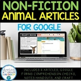 Non-Fiction Reading Passages For Google - Animals | Distan