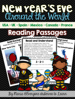 New Year's Eve Non-Fiction Reading Comprehension Unit