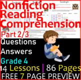 Non-Fiction Reading Passages & Questions   Part 2/3   Grade 4