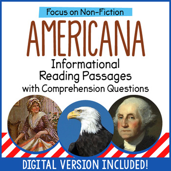 Reading Comprehension Passages - American History
