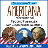 Reading Comprehension Passages - American History - Distance Learning