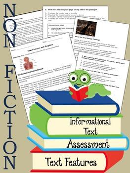 Non-Fiction Reading Quiz Text Features-