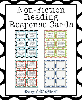 Reading Response Cards for Non-Fiction