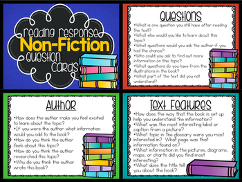 Non-Fiction Reading Response Questions
