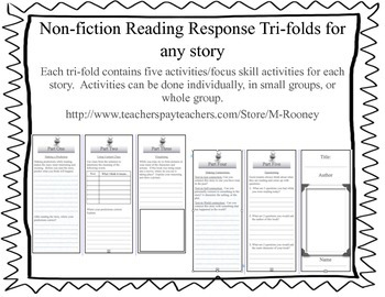 Non Fiction Reading Response Tri-Folds