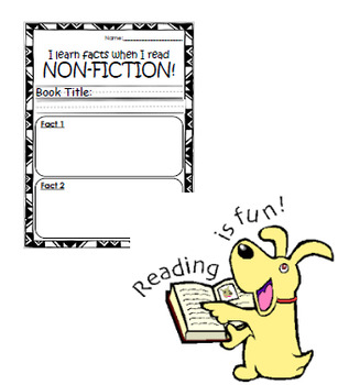 Non-Fiction Reading Response Worksheet-MEDIUM
