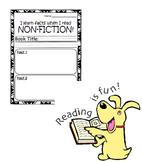 Non-Fiction Reading Response Worksheet-MEDIUM