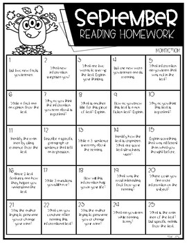 Non-Fiction Reading Responses by month