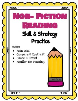 Non Fiction Reading Skills and Strategy Practice