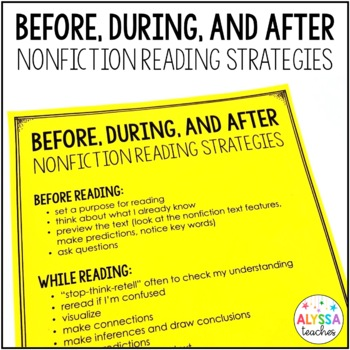 Non-Fiction Reading Strategies Worksheets