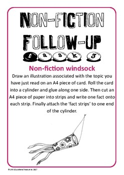 Non Fiction Reading Task Cards