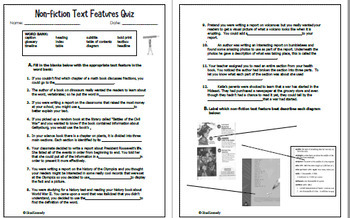 Nonfiction Text Features Unit: 18 Creative Projects; Study Guide; and Quiz